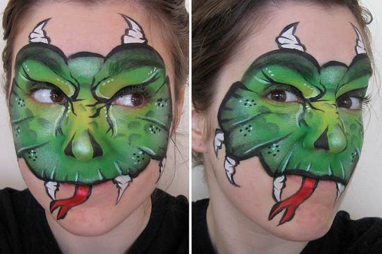 Gothic face painting artwork