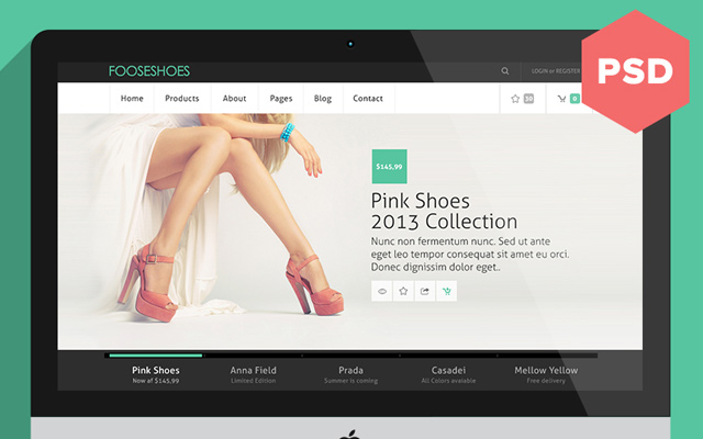 eCommerce Layout PSD