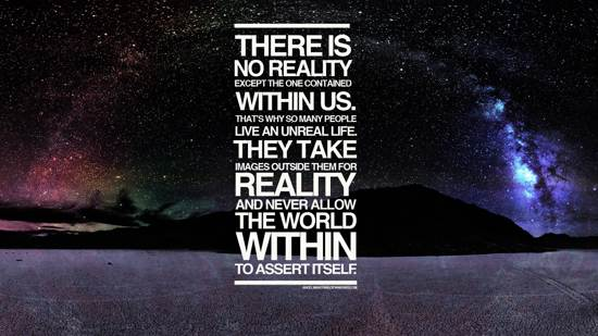 reality quote wallpaper