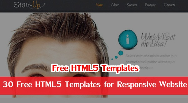 30 Free HTML5 Templates for Responsive Website