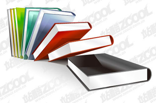 Crystal-style Books Material Vector Graphics