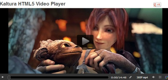 Kaltura HTML5 Video Player