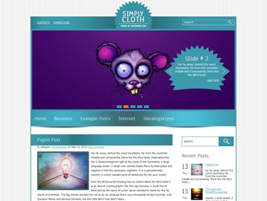 free simply cloth wordpress theme