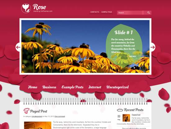 free rose wordpress theme