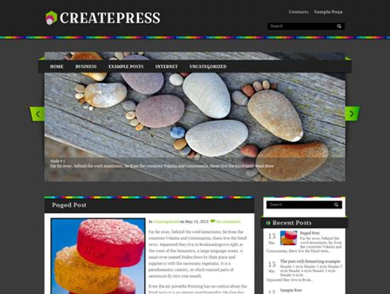 free createpress wordpress theme