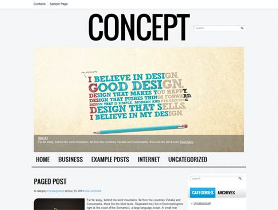 free concept wordpress theme