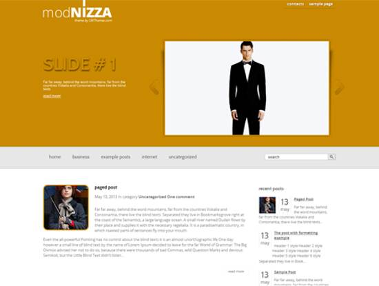 free modnizza wordpress theme