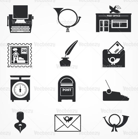 premium office and mail vector pack