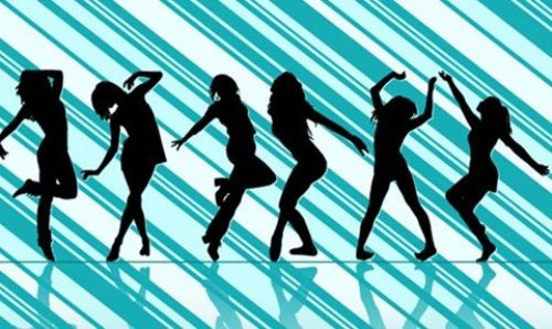 Dancing Girl Vector Silhouettes