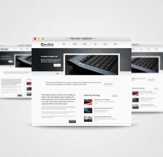 attractive preview window psd