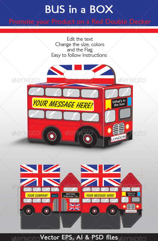 bus in box packaging template