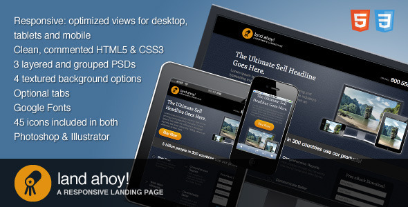 Land Ahoy - a Responsive Landing Page Template