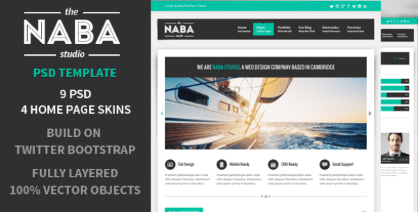 Naba - Multipurpose PSD Business Theme