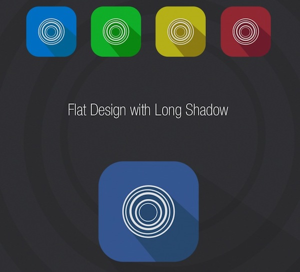 Flat Design with Long Shadow