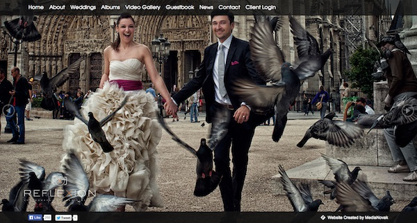 reflexionweddings photography portfolio websites