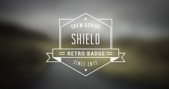 Retro insignia mark Badges