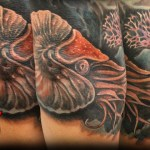 Nautilus Full Arm Tattoo