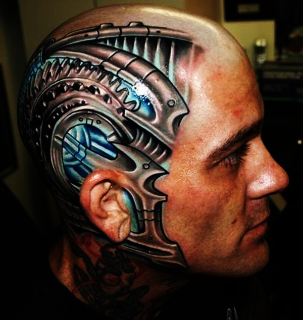 Bio-mechanical Tattoo Designs Examples (10)