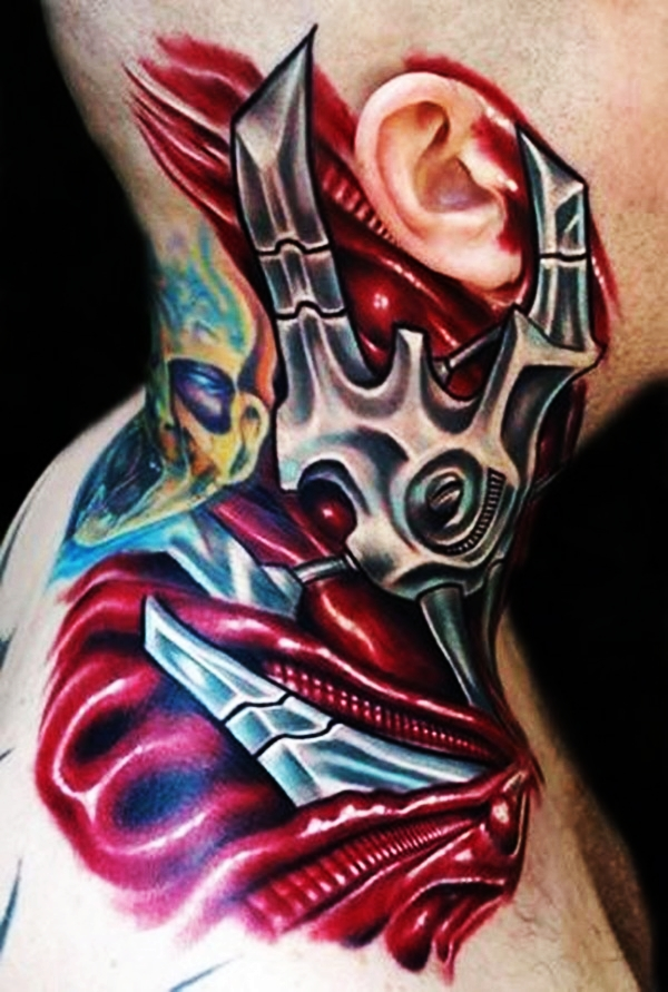 Bio-mechanical Tattoo Designs Examples (19)