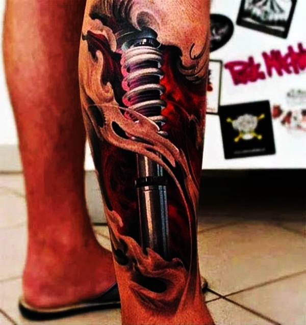Bio-mechanical Tattoo Designs Examples (3)