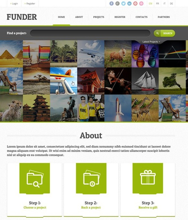Crowd Funding WordPress Themes of the Year1