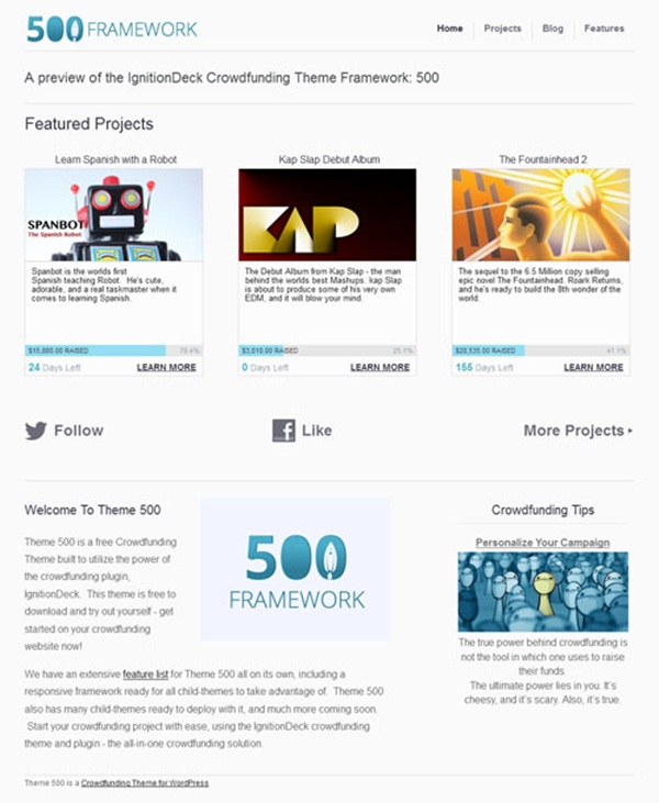Crowd Funding WordPress Themes of the Year4