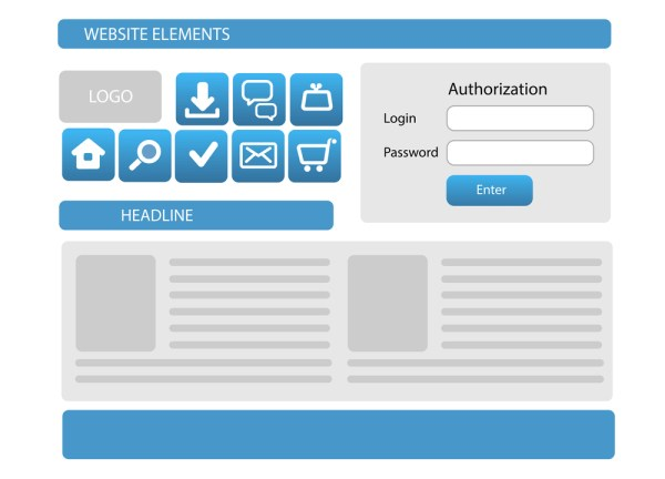wireframe for webpage