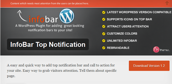 Best WordPress Notification Bar Plugins 6