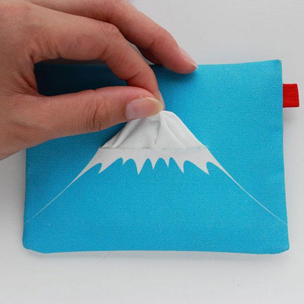 Mount Fuji Tissue Holder Product Packaging Designs