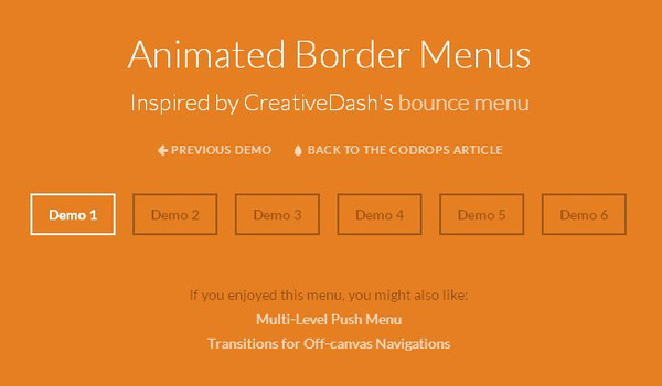 Animated Border Menu