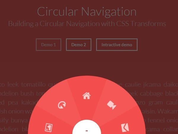 Building A Circular Navigations With CSS Transforms