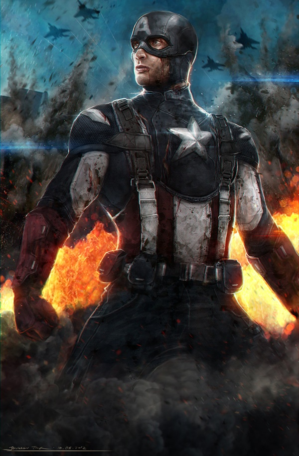 Captain America Fan Art and Illustrations3