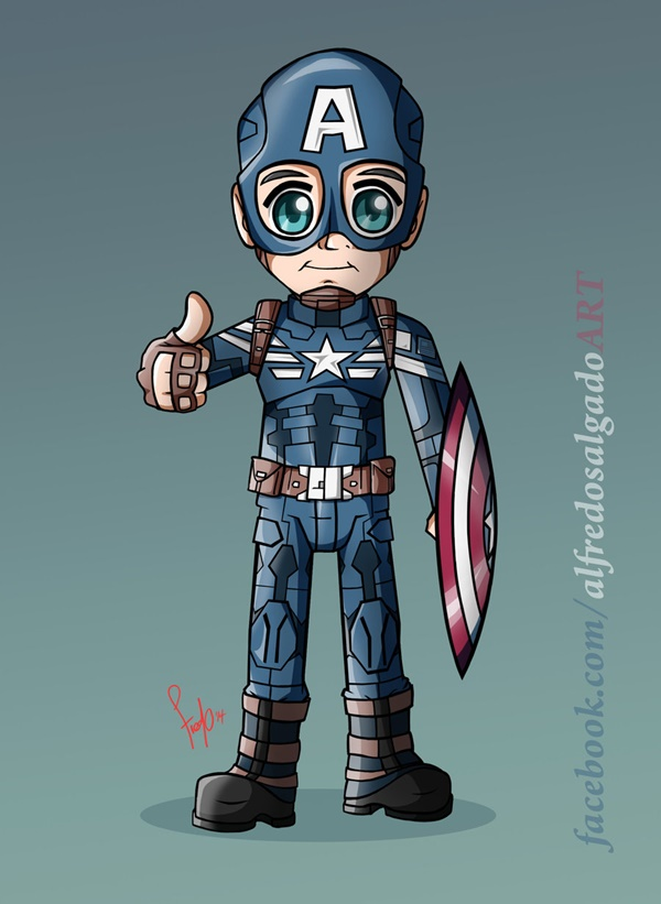 Captain America Fan Art and Illustrations8