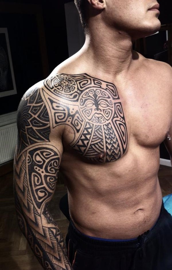Catchy Chest Tattoo Designs for Men and Women (45)