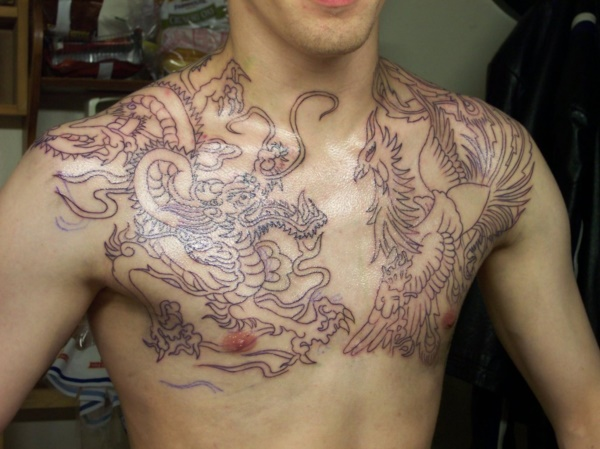 Catchy Chest Tattoo Designs for Men and Women (8)
