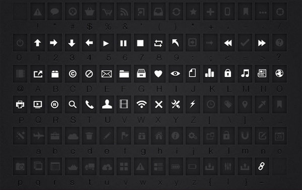 Free Icon Font by Tony Thomas