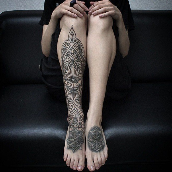 female leg tattoos ideas (15)