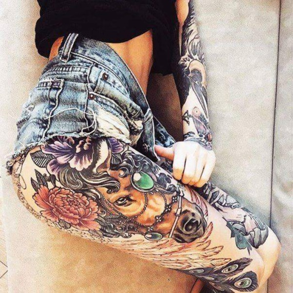 female leg tattoos ideas (49)