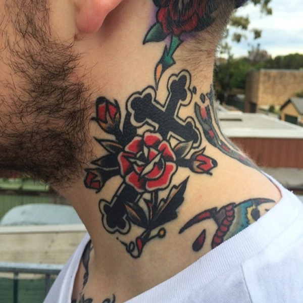 21 Catchy Black Ink Tattoos Designs By Hugo: 50 Cute Neck Tattoo Designs To Ink With