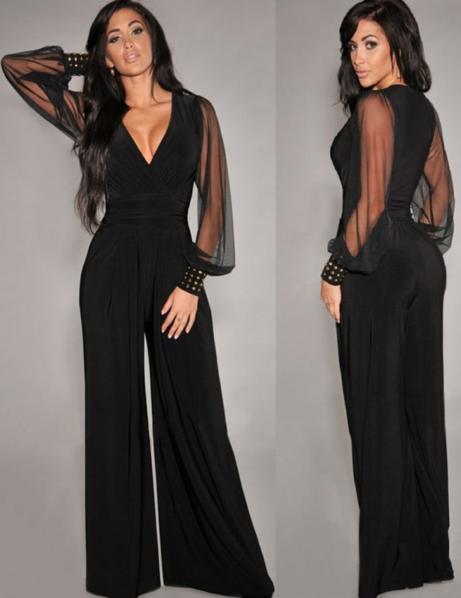 Womens-Sexy-Loose-Jumpsuit-Casual-Elegant-Black-Chiffon-Long-sleeve-V-neck-Outfits-Sexy-long-jumpsuits
