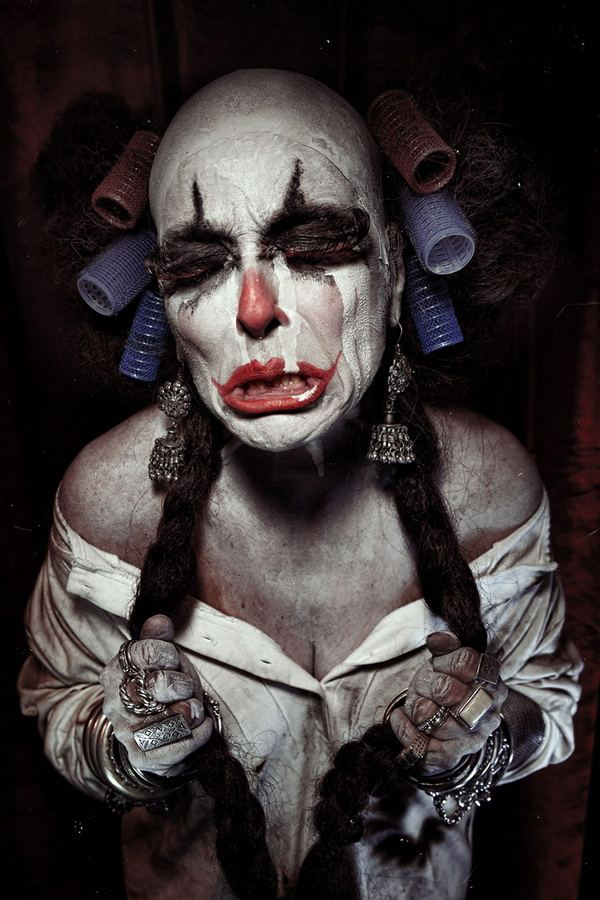 horror clowns portraits