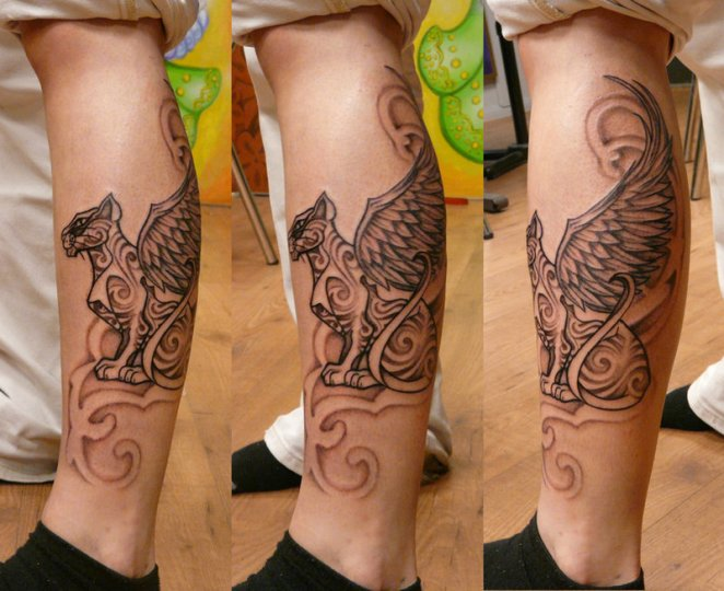 cat-egyptian-leg-tattoo-design-ideas-11-with-wings