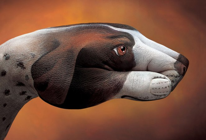 body painting works Guido Daniele