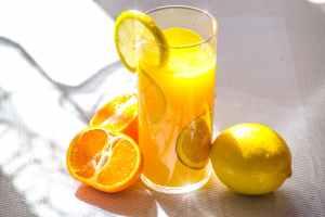 A photo of orange juice available at Lava eSports