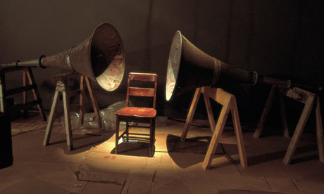 Janet Cardiff and George Bures Miller's Dark Pool, 1995. Photograph: Courtesy the artists and Gallery Barbara Weiss, Berlin and Luhring Augustine Gallery, New York