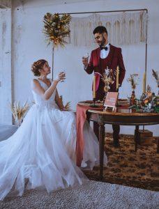 mariage chic et bohème en Bourgogne