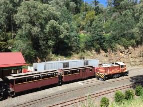 Old train at Walhalla, Victoria, Australia (Photo credit: lavaleandherworld.wordpress.com)
