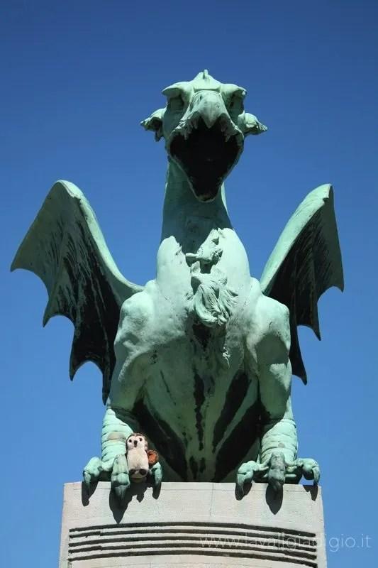 cosa vedere a Lubiana in un giorno drago ponte
