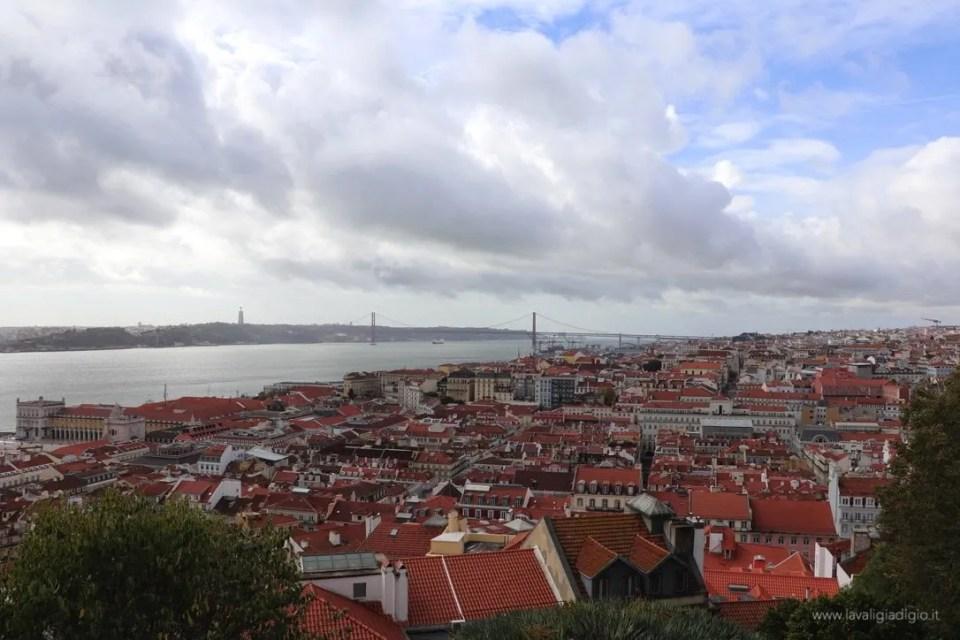 Lisbona dall'alto - castello di Sao Jorge