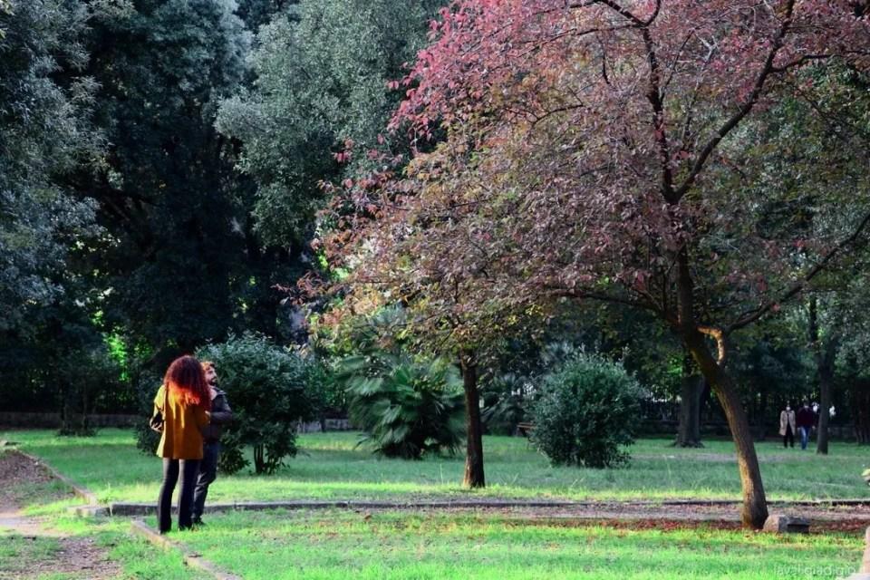 Roma autunno villa borghese